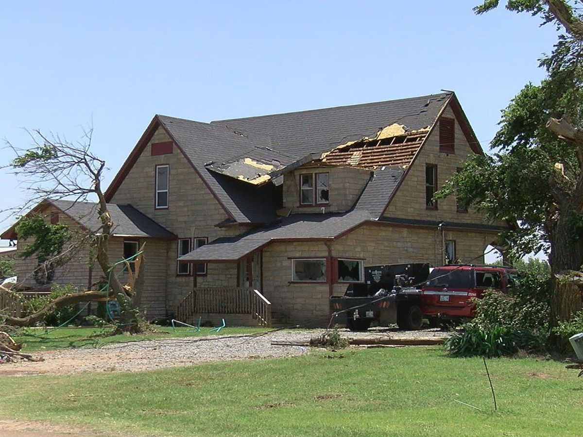 Mangum residents thankful to be alive after tornado hits their home