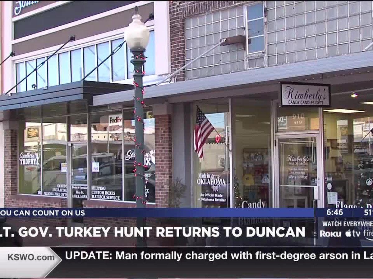 Lt. Governor Turkey Hunt Returns to Duncan for it's 33rd Year