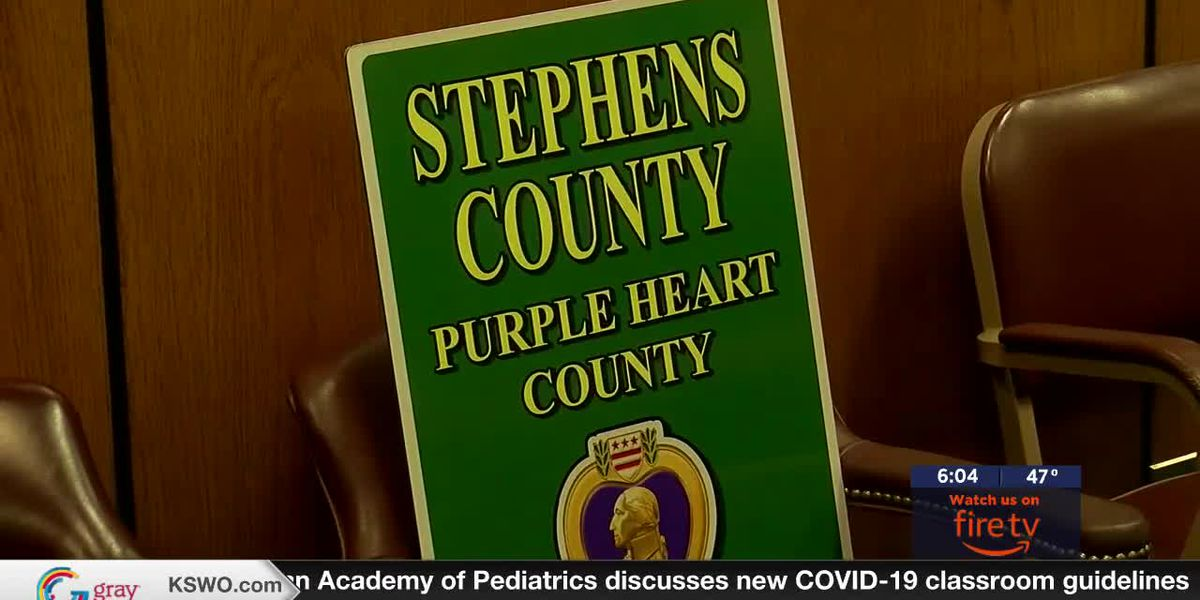 Stephens County becomes first Purple Heart County in Southwest Oklahoma
