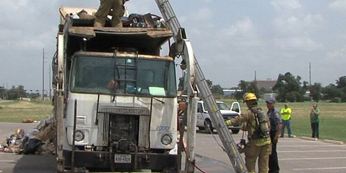 Trash falls into exhaust pipe, starts fire