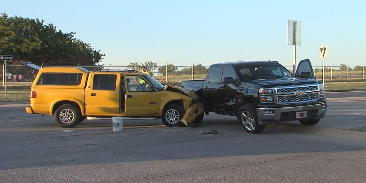 One injured in car crash