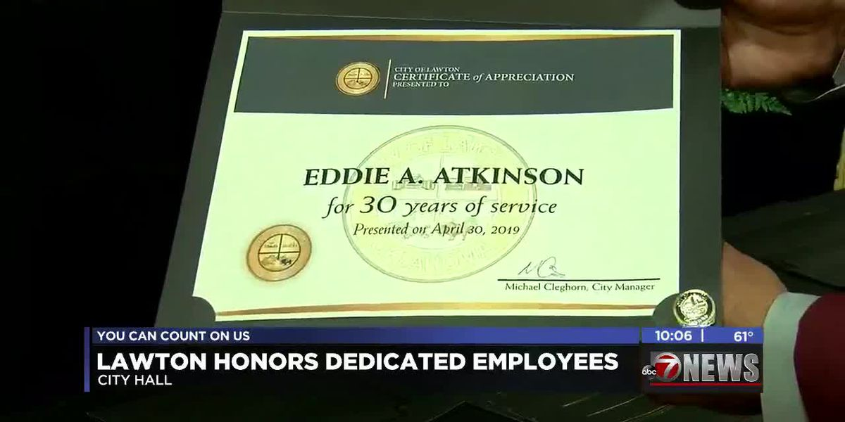 Lawton City Officials honor their dedicated employees