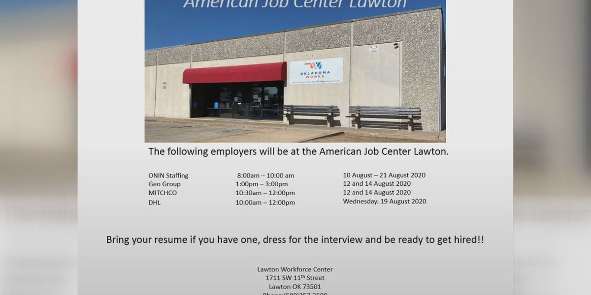 Several Lawton employers holding hiring events to fill immediate openings