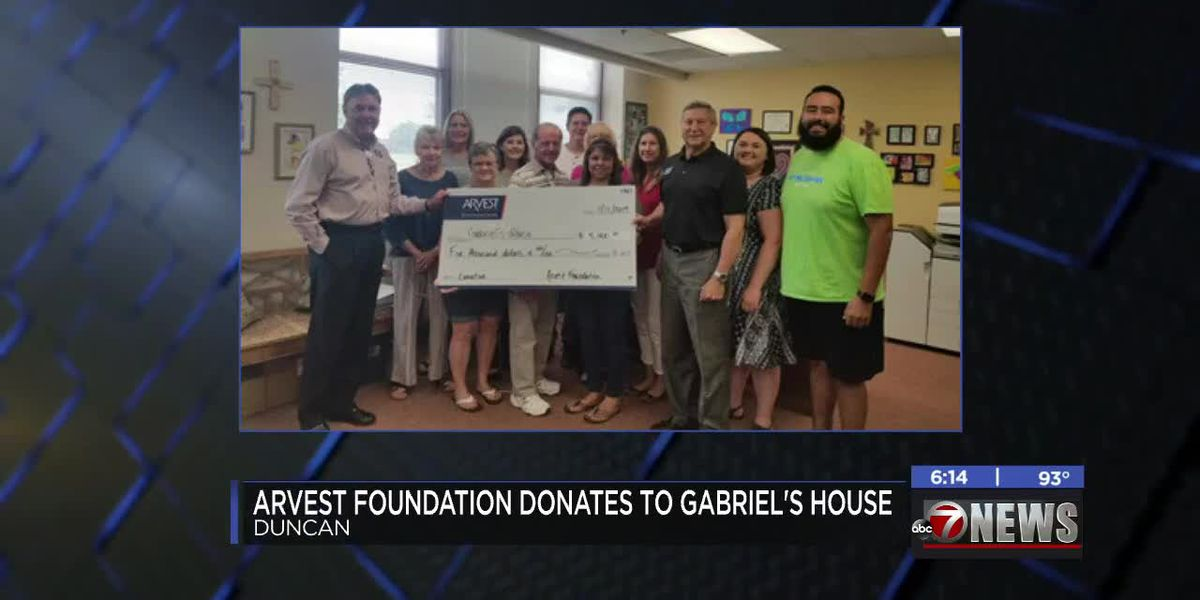Arvest Foundation donates to Gabriel's House