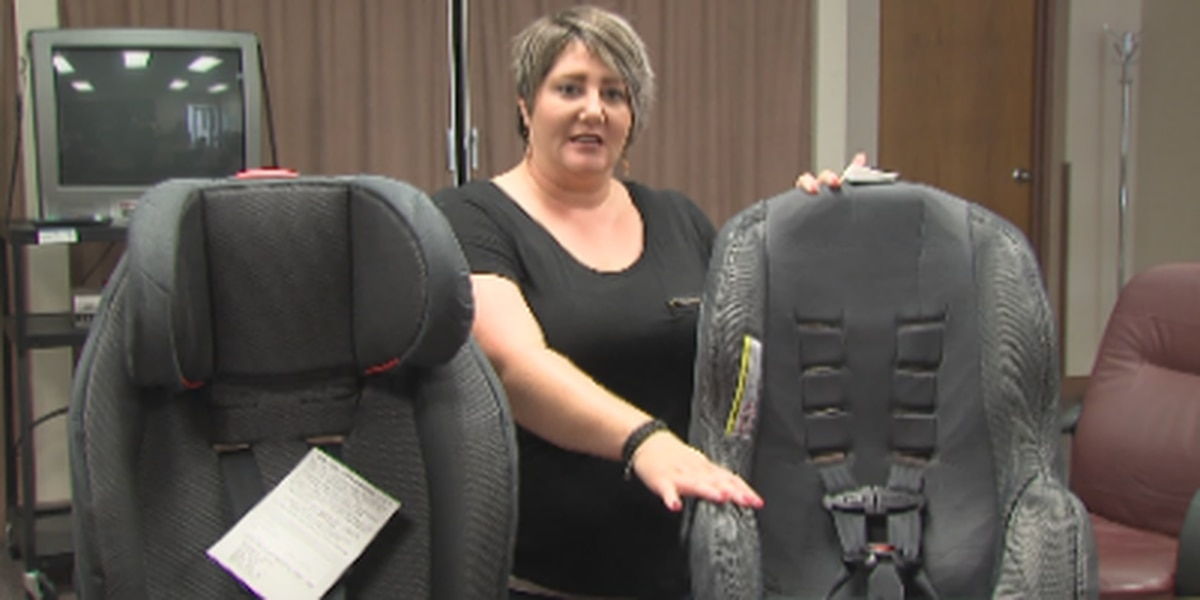 Car seat check event for parents