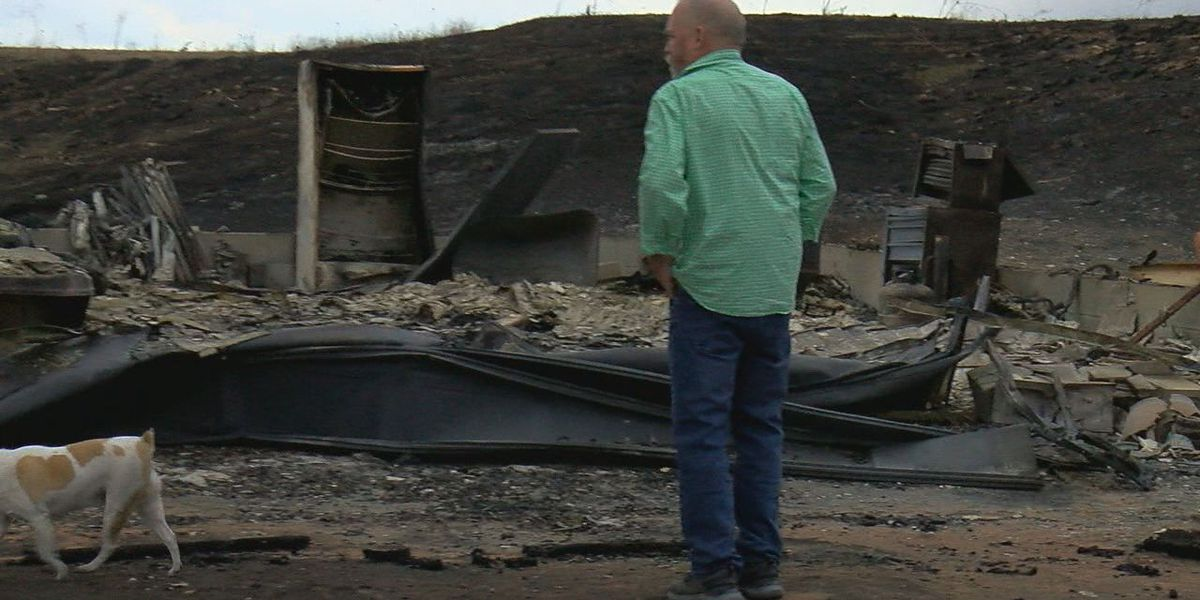 Couple displaced from home following grassfire