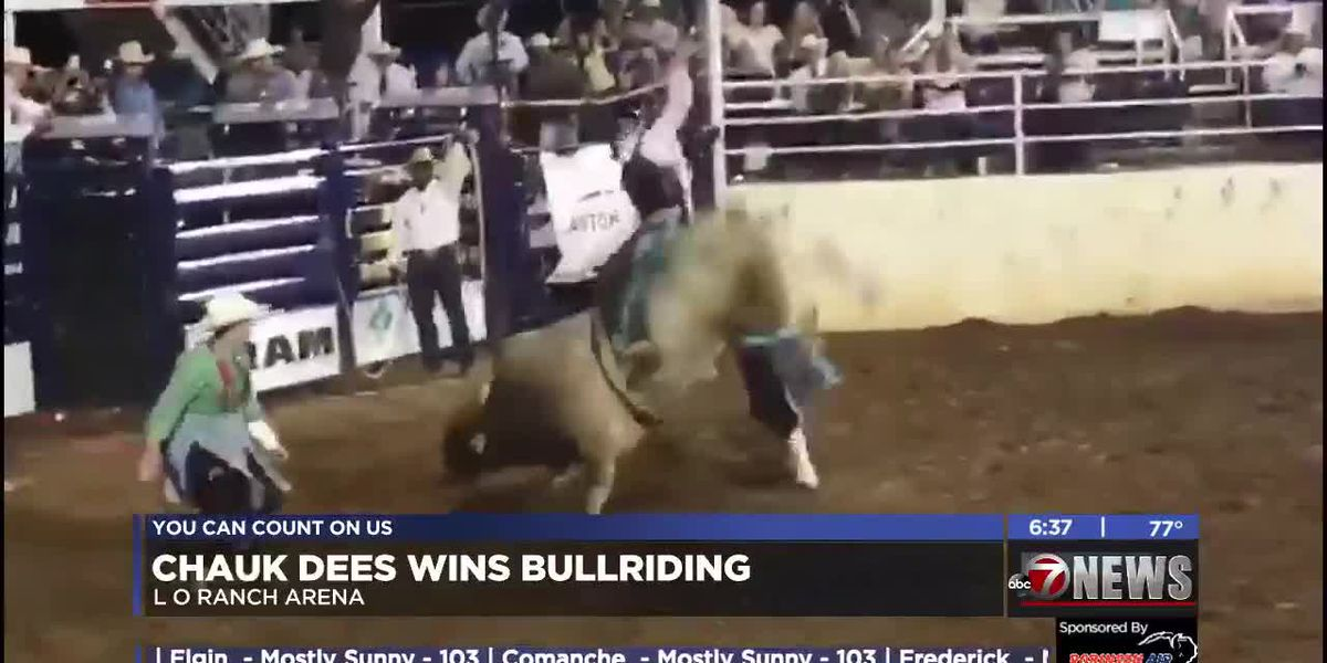 Local cowboy wins Lawton Rangers Rodeo bull riding-8/12/2019