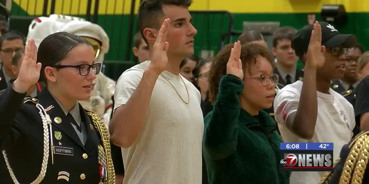 Lawton students sworn into US military by astronaut on International Space Station