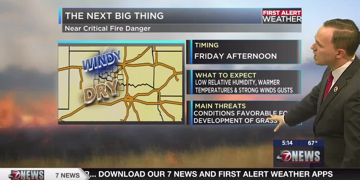 7News First Alert Weather: Near critical fire danger returns tomorrow with a mild Easter weekend on tap