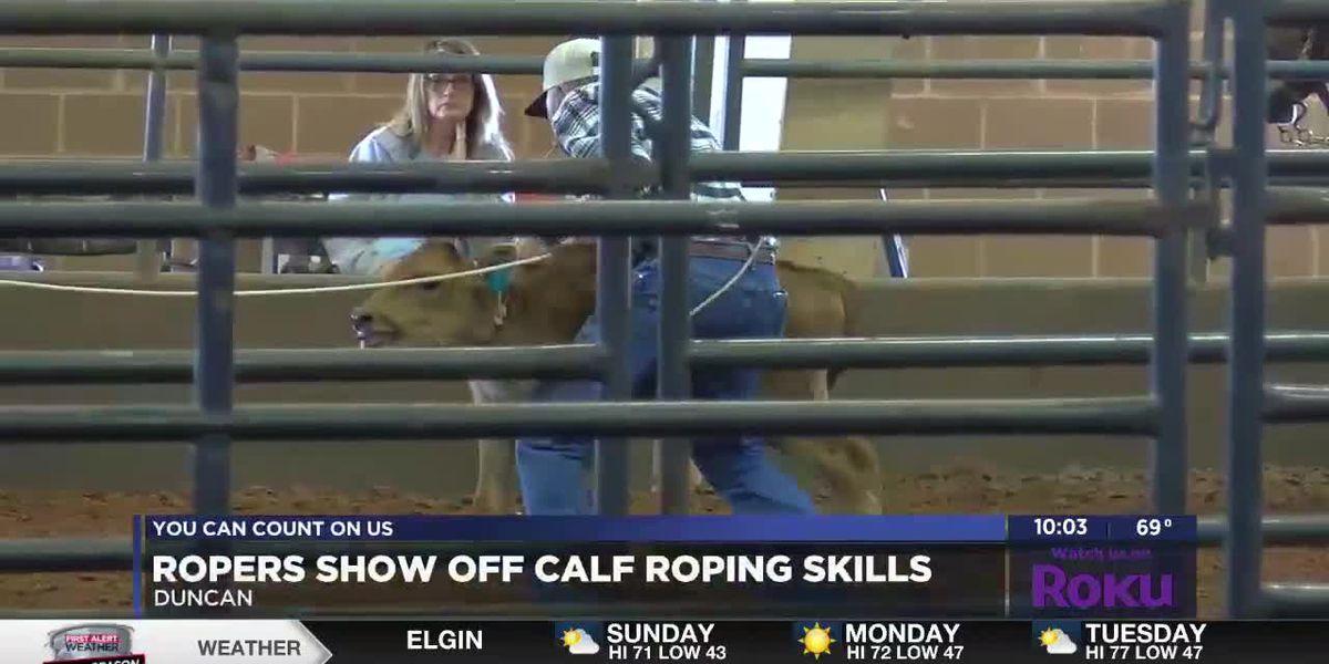 Ropers show off skills at Ultimate Calf Roping in Duncan