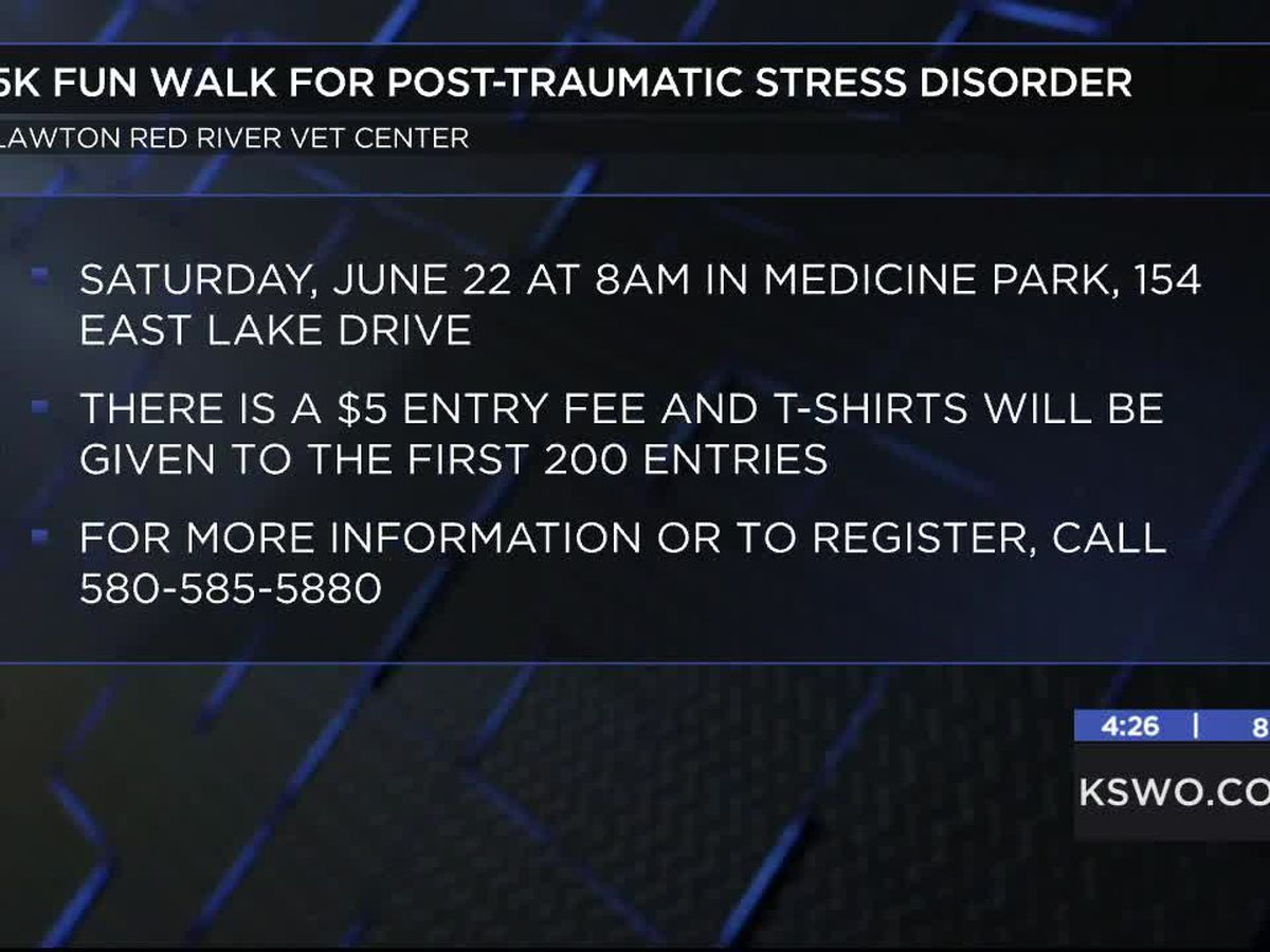 Lawton Red River Vet Center hosts 5K fun walk for PTSD