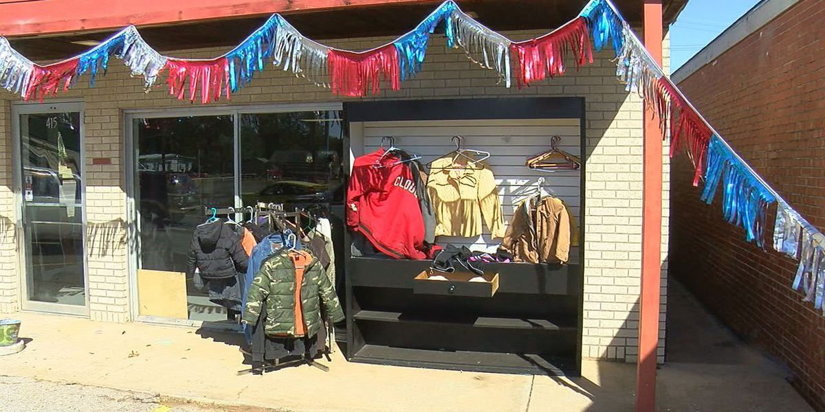 Local business giving out free coats to keep people warm