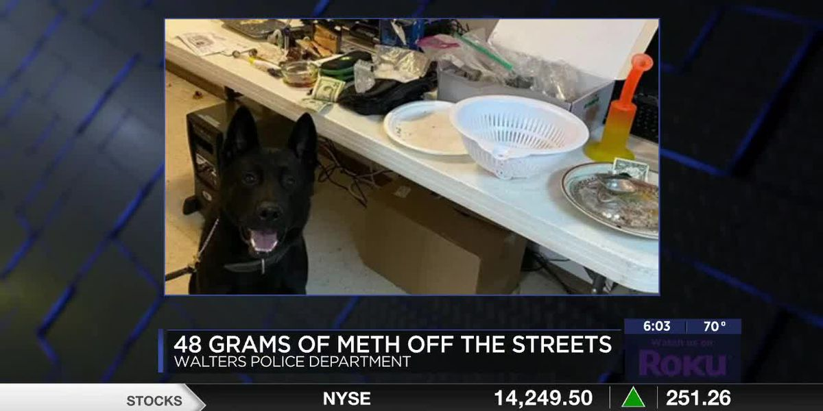 Walters Reserve Officer assists in meth bust