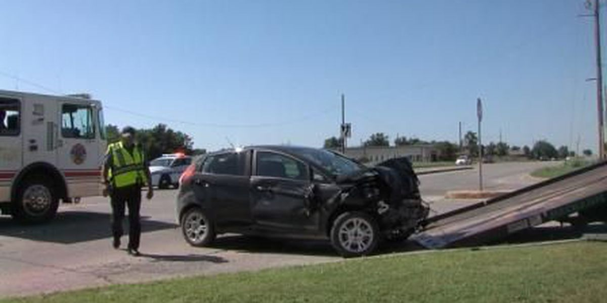 Driver injured in two-car collision