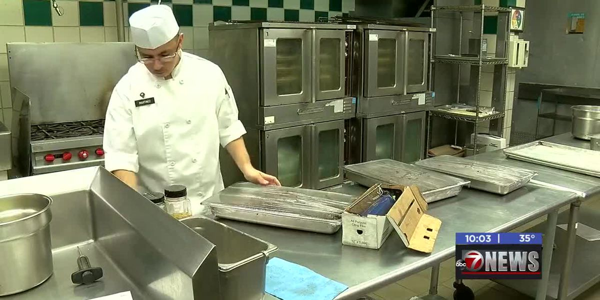 Fort Sill's Thanksgiving meals being prepared