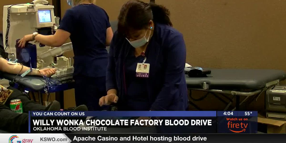 OBI holds Willy Wonka themed blood drive