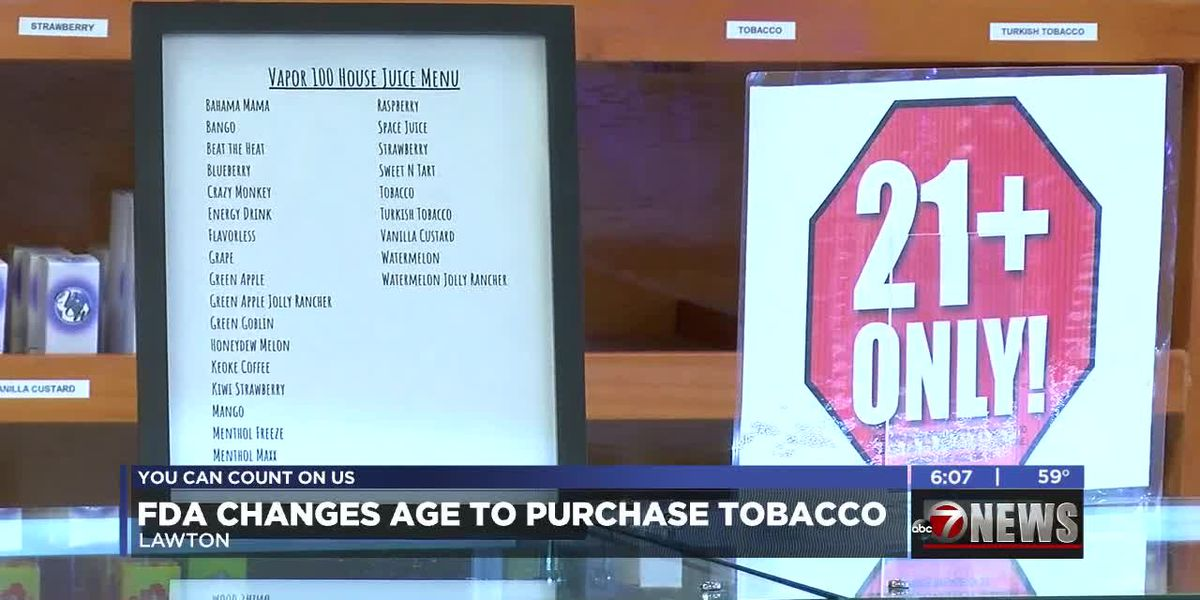 TSET excited about FDA's change to tobacco purchasing age