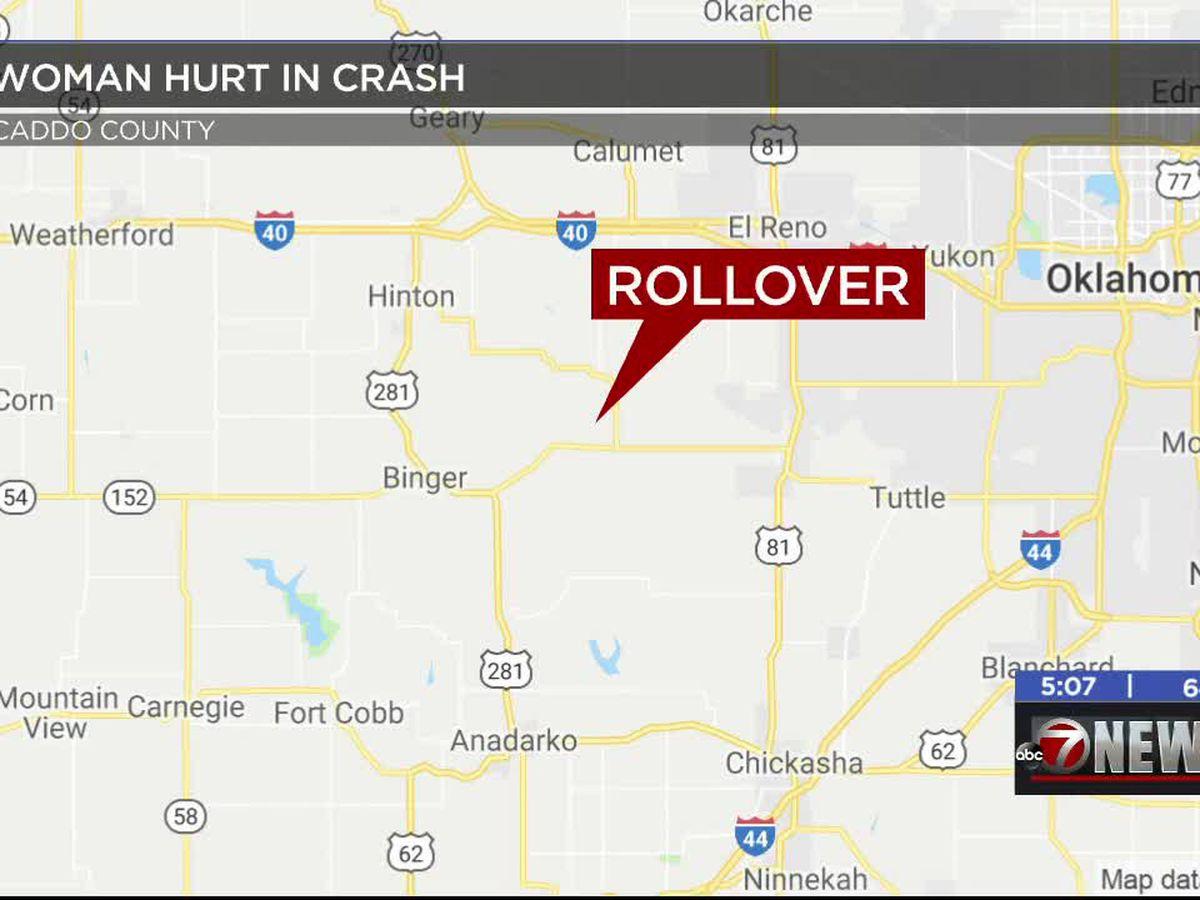 One injured in Caddo County crash