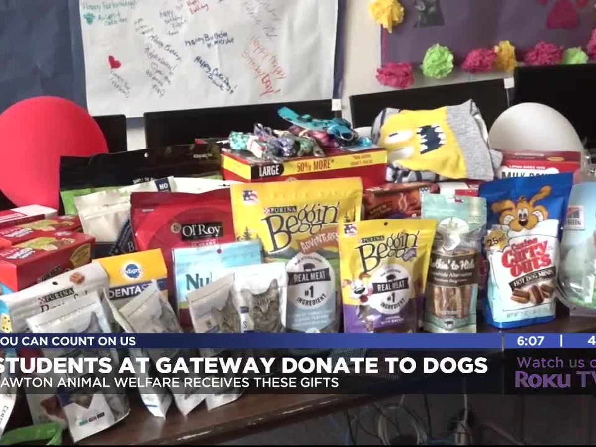 Students at Gateway Success Center donate to Lawton Animal Welfare