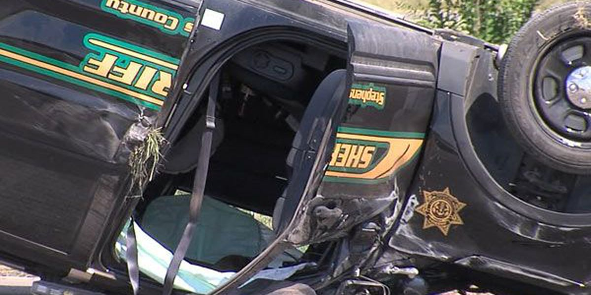 Deputy's SUV flips in vehicle collision