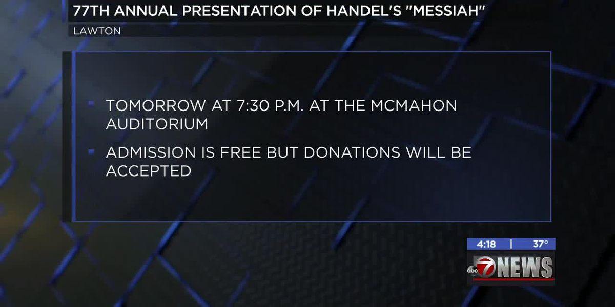 77th annual performance of Handel's Messiah happening in Lawton