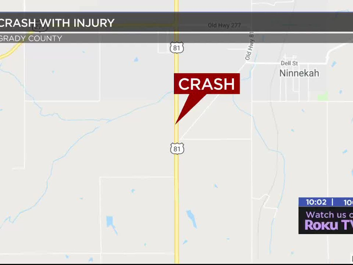 Duncan man hurt in Grady County crash