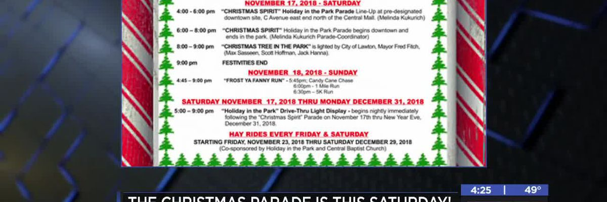 Multiple holiday events coming up in Lawton
