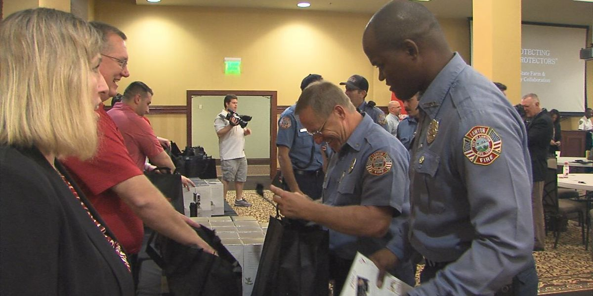 First Responders receive free home security devices