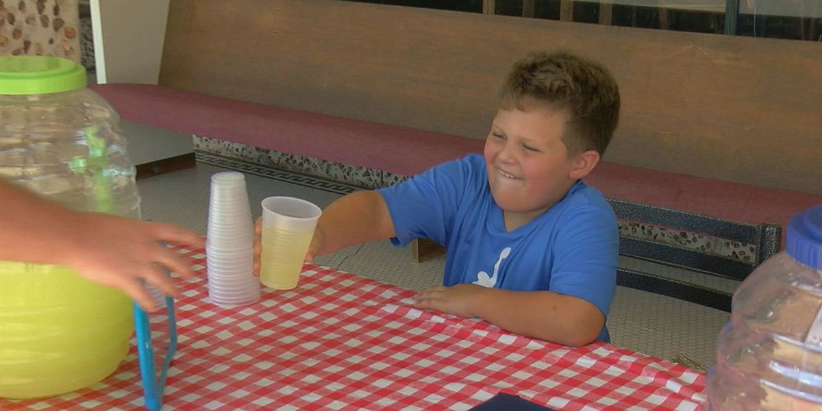 """IT'S GOOD"": Local 7-year-old selling lemonade to raise money for Hurricane Dorian victims"