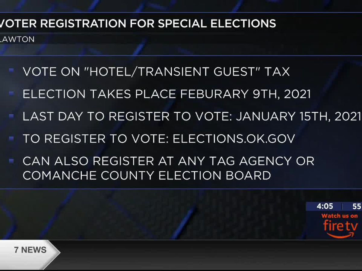 Last days to register to vote for special elections in Lawton