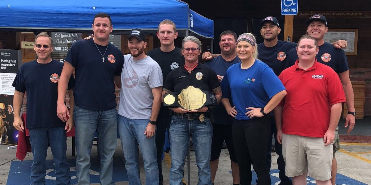 Lawton Police Department defeats Lawton Fire Department in rib eating contest