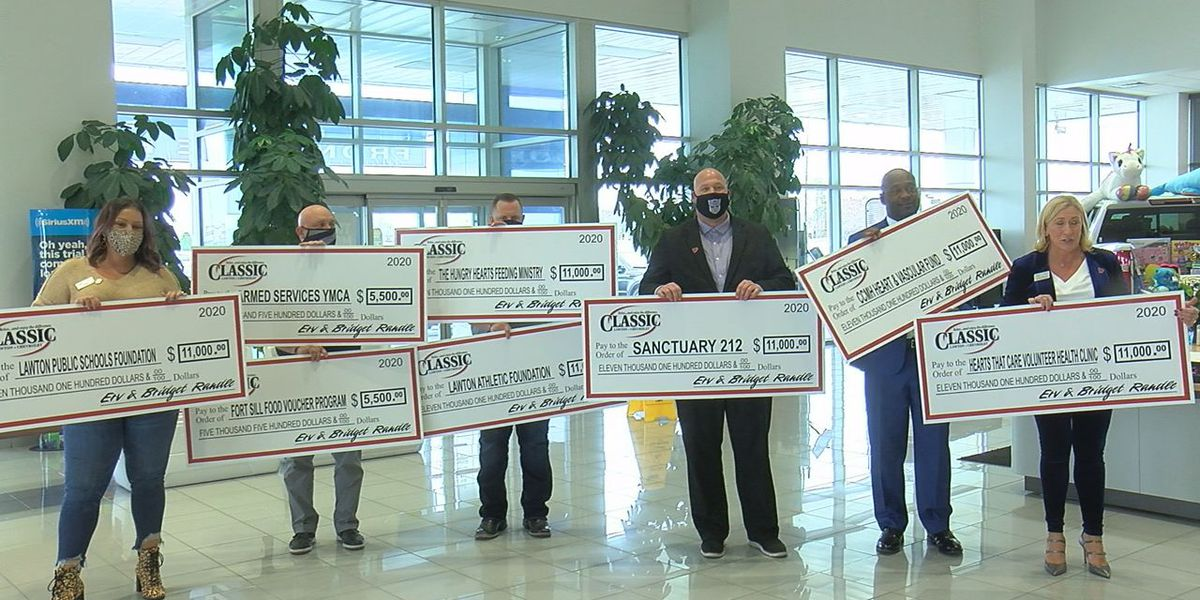 Classic Lawton Chevrolet donates $77k to eight local charities