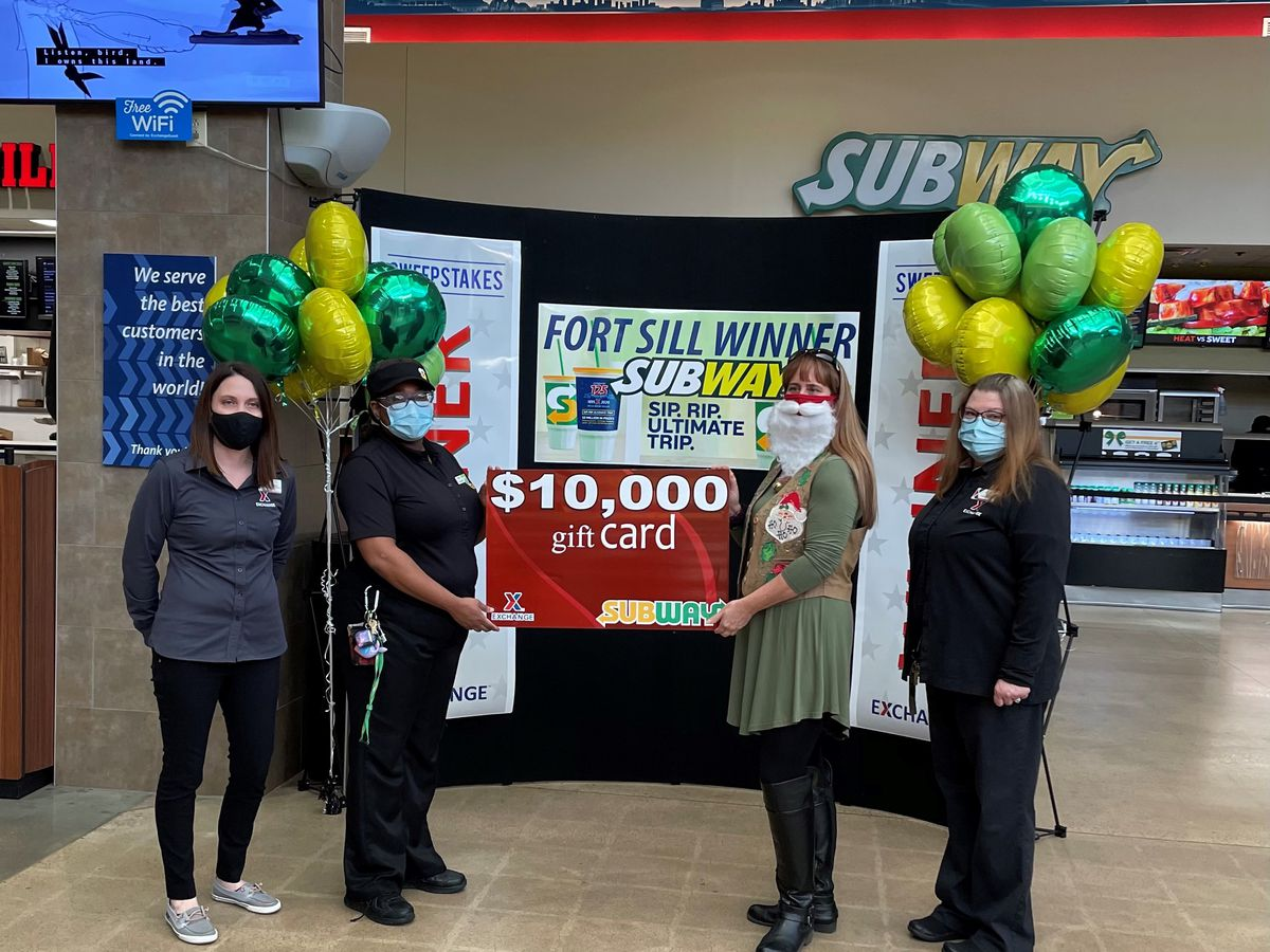 Fort Sill veteran wins $10,000 shopping spree