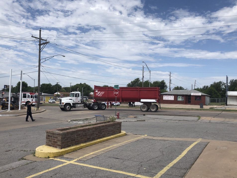 Truck pulls down power pole in north Lawton, causes traffic issues