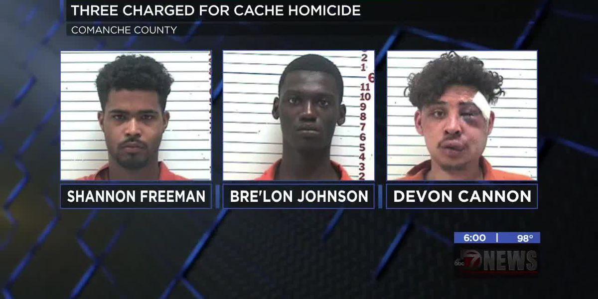 Three charged in deadly Cache shooting