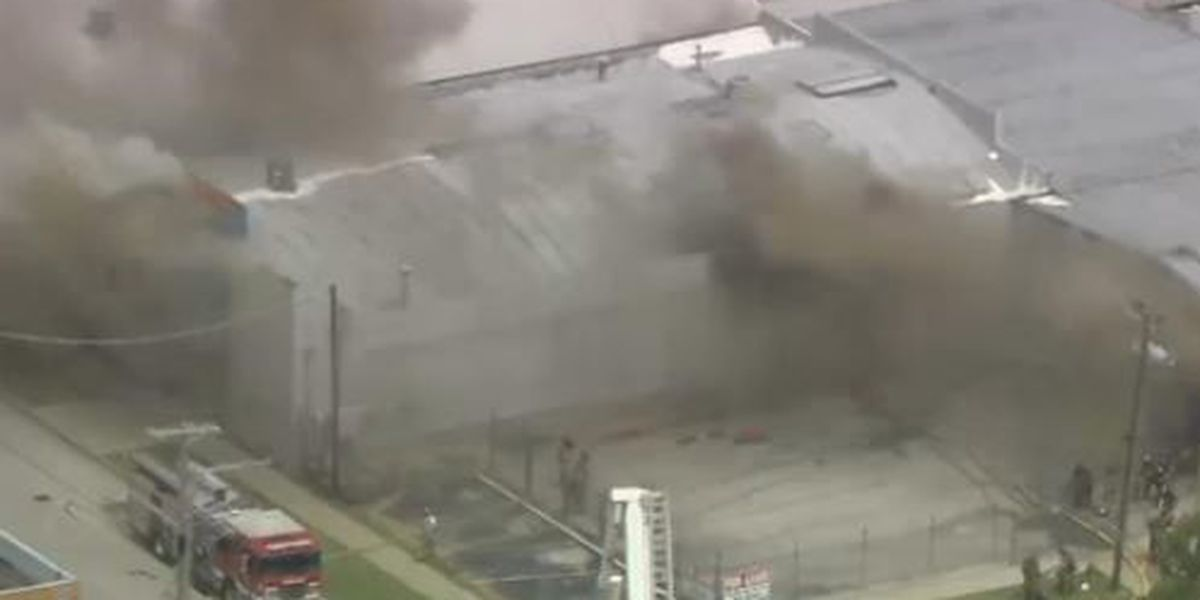 Abandoned Tulsa warehouse goes up in smoke