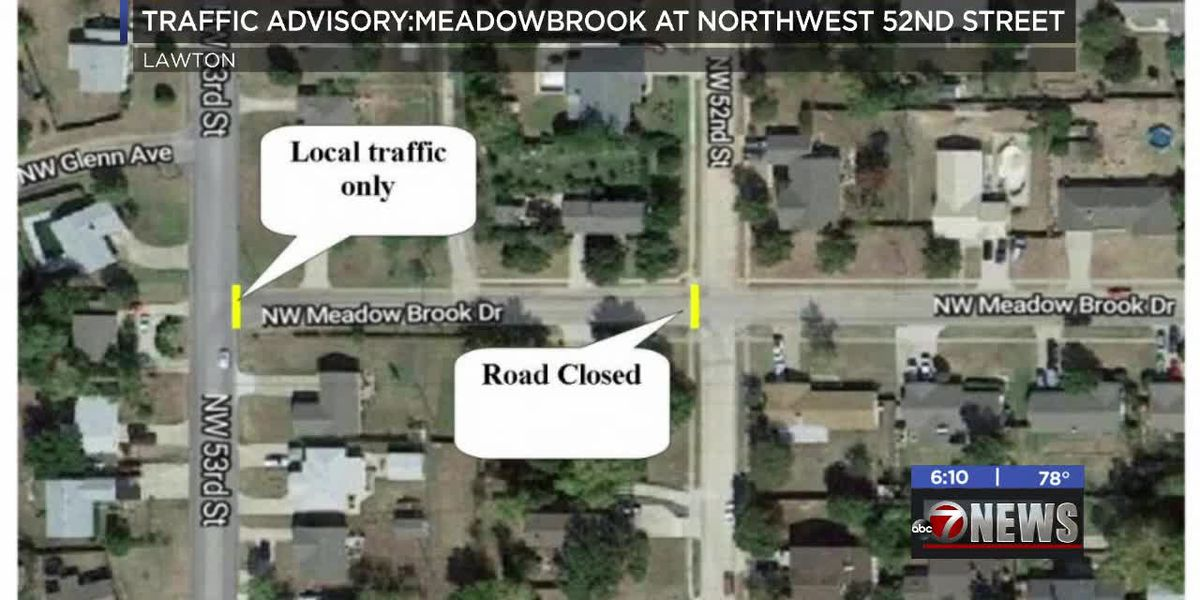 TRAFFIC ADVISORY: Meadowbrook at NW 52nd Street closed