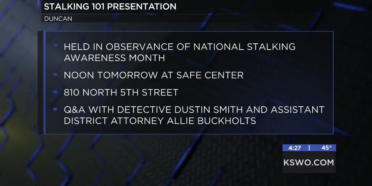 """""""Stalking 101"""" event being held for National Stalking Awareness Month"""