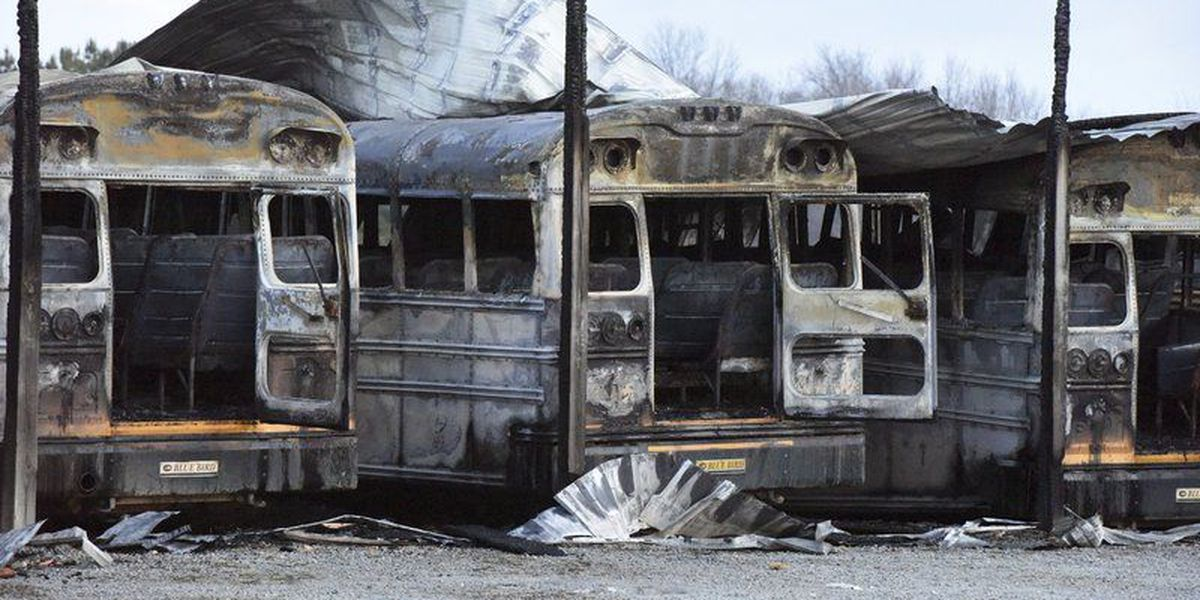 Class canceled after fire destroys school buses in Oklahoma