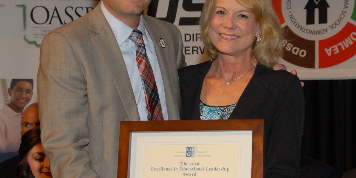 State leader honored with Excellence in Educational Leadership Award