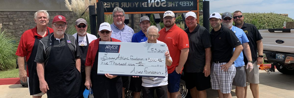 Lawton Athletic Foundation receives $5,000 donation from Arvest Bank