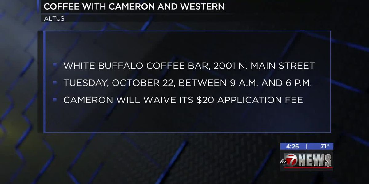 Coffee with Cameron and WOSC event coming up in Altus