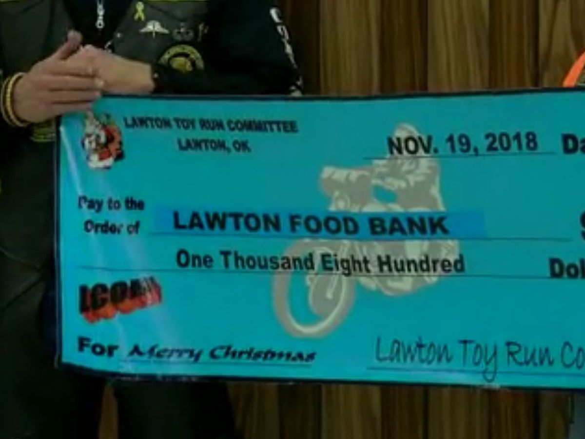 Lawton Coalition of Motorcycles donations help local families during holidays