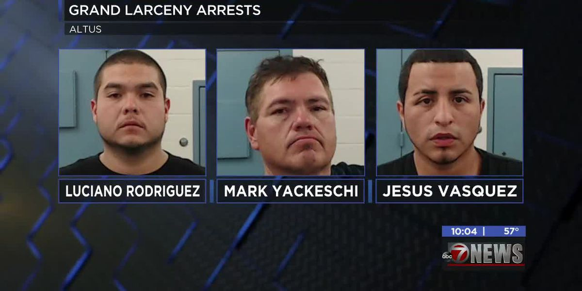 Several arrested in connection with grand larceny in Altus