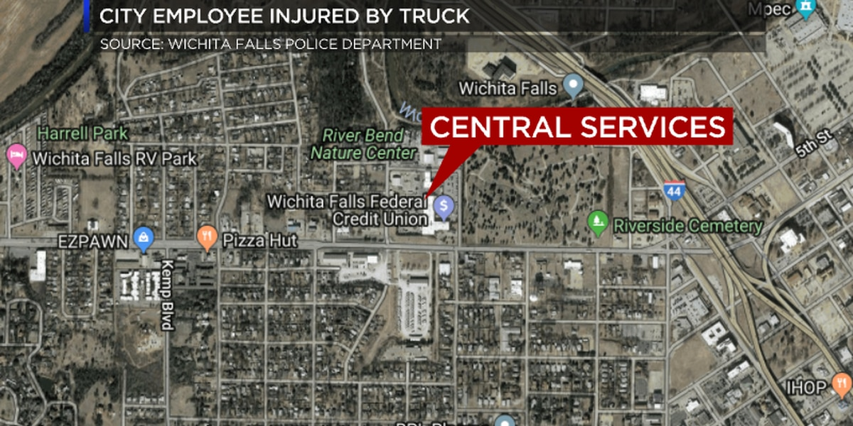 Wichita Falls city employee injured after vehicle falls on him