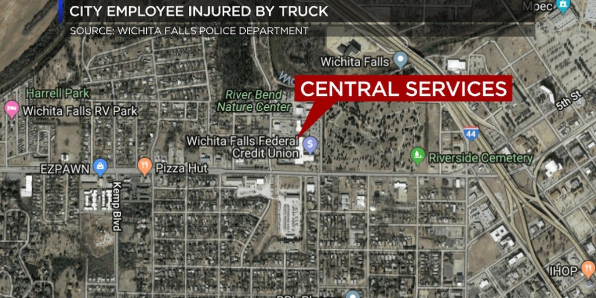 Wichita Falls city employee injured after vehicle falls on him