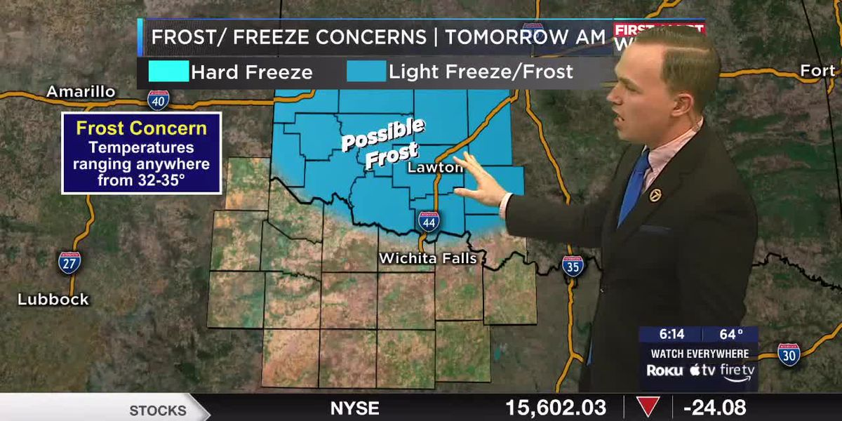 7News First Alert Weather: Frost a possibility for parts of Texoma Thursday morning