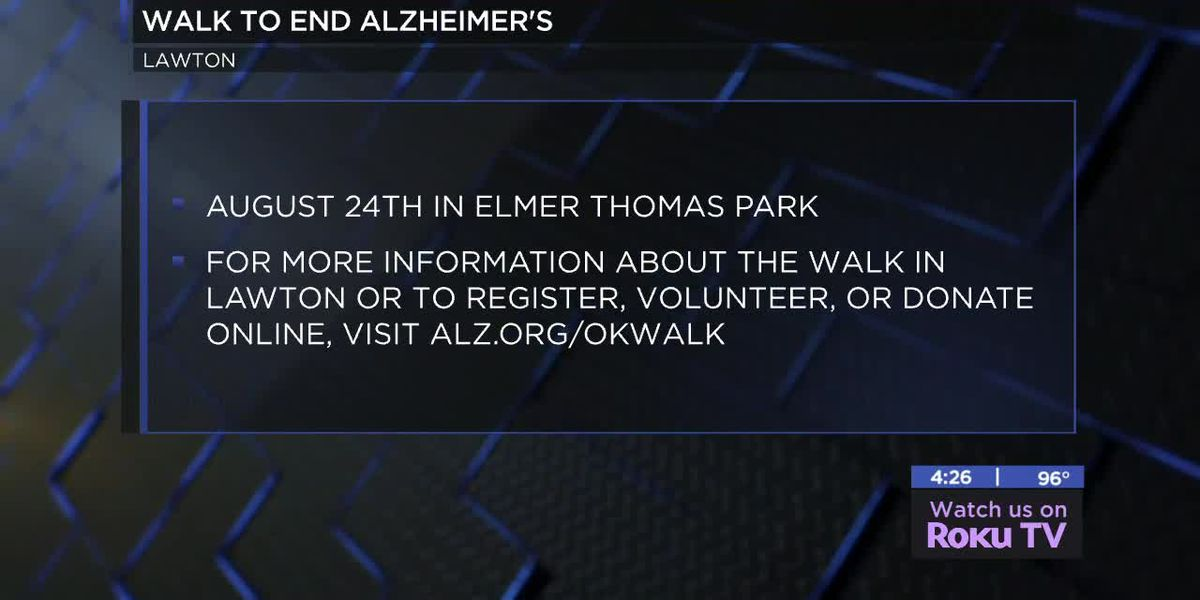 Lawton Walk to End Alzheimer's coming up later this month
