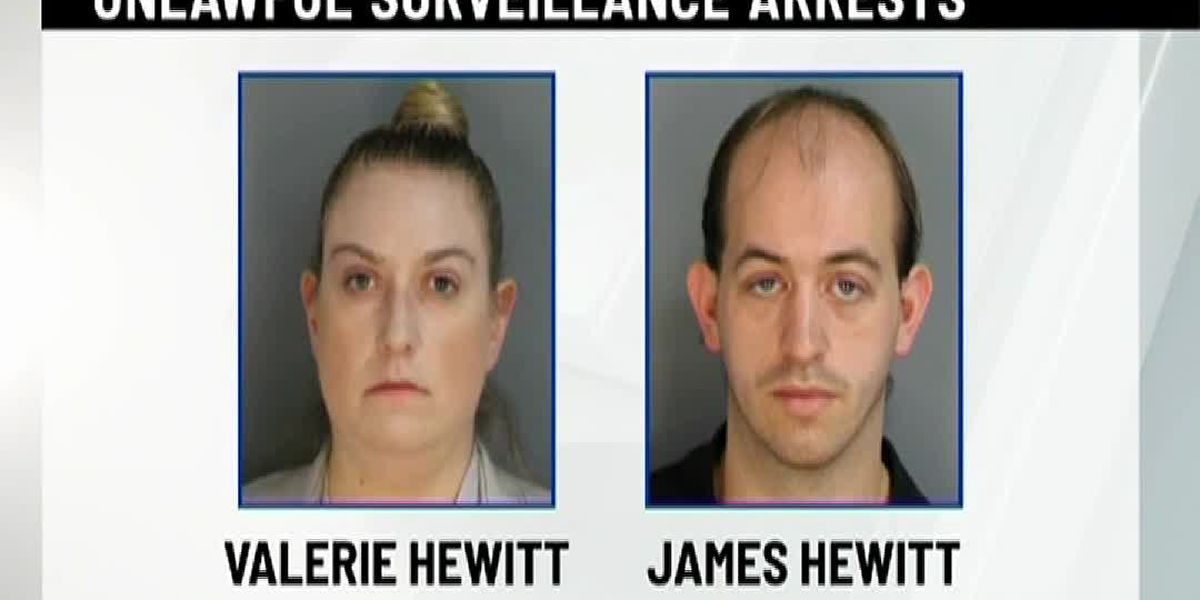 Husband, wife recorded women, young girls using restroom, police say