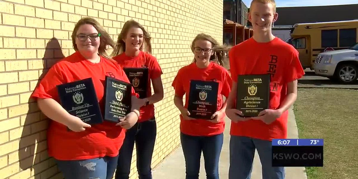 Ryan High School students return from a convention as state champions